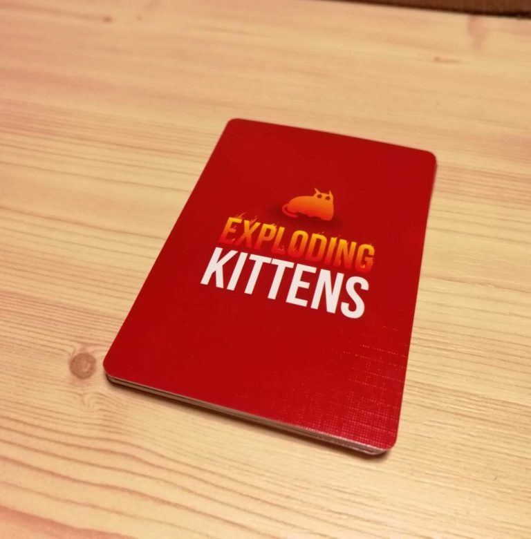 The Exploding Kittens game card deck