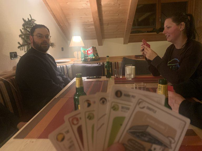 Jonathan and Hannah playing Exploding Kittens