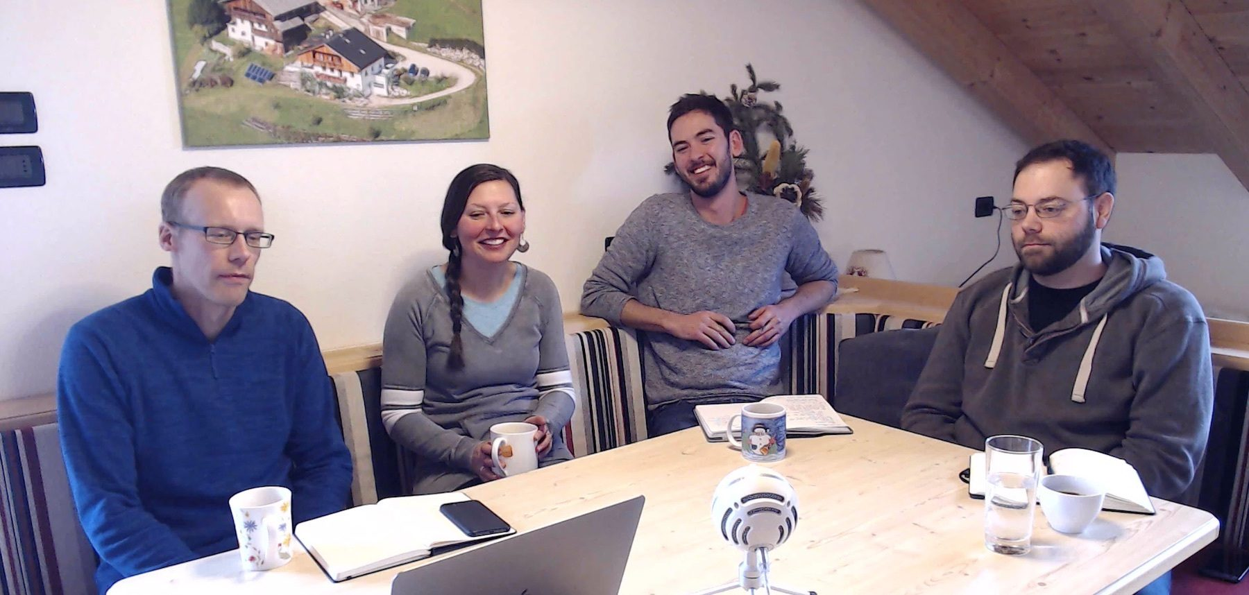 Image of the Highrise Digital team on the live WordPress Q&A