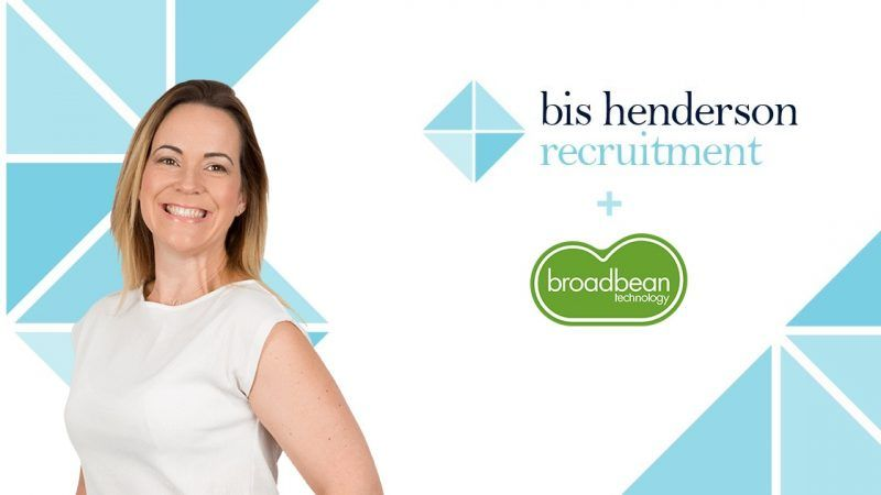 Banner image showing smiling lady and logos for Bis Henderson and Broadbean
